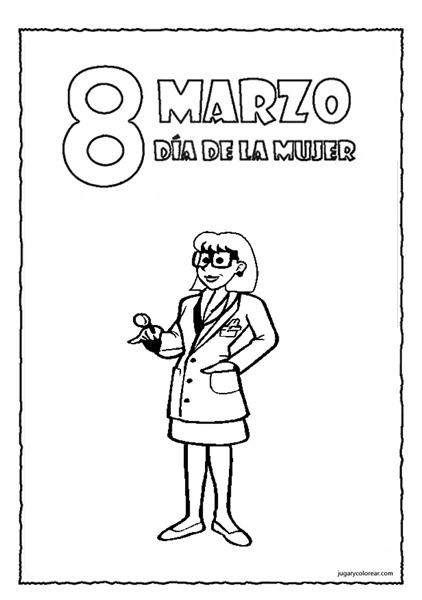 Medico Dibujo De Mujer